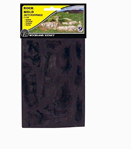 Woodland Scenics WS 1230 Rock Mold-Outcroppings - 5 x 7 by Woodland Scenics