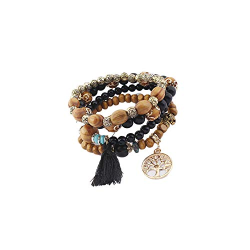 David Yurman Beaded Necklace - VBTY Beaded Stretch Bracelet, Stone Beads,New Cute Wood Bead Bohemia Elastic Charms Bracelets & Bangles Wooden Beads Bracelet Multilayers Pulseras Women BK