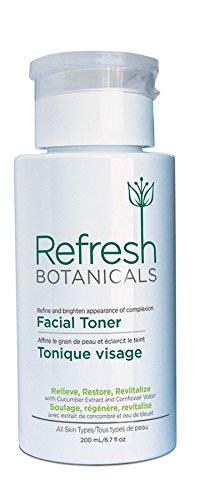 Refresh Botanicals Natural and Organic Facial Toner for Sensitive Skin, Natural, Gentle, Alcohol Free, Oil free, Anti Ageing Regimen, Restore Skin Tone-The Best Toner MaxBioChem Inc.