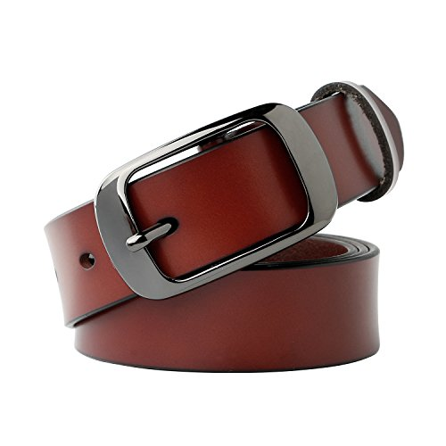 Classic D-ring Belt (Whippy Women's Leather Casual Belt for Jeans 1.1