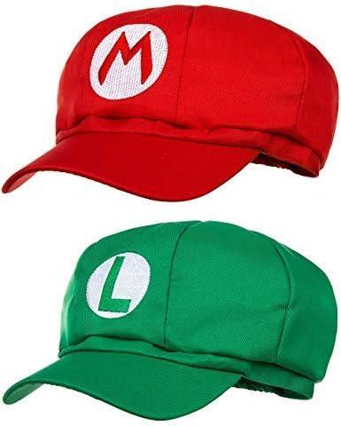Doble Pack Super Mario Beanie + Luigi Beanie para Adultos y niños ...