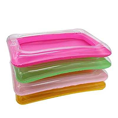 CCGTOY 1Pcs Portable Inflatable Sandbox Plate for Kinetic Sensory Activities Sand Blow Up Play Tray Education Toy Random Color: Toys & Games