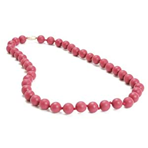 Chewbeads Jane Teething Necklace, 100% Safe Silicone - Spiced Wine