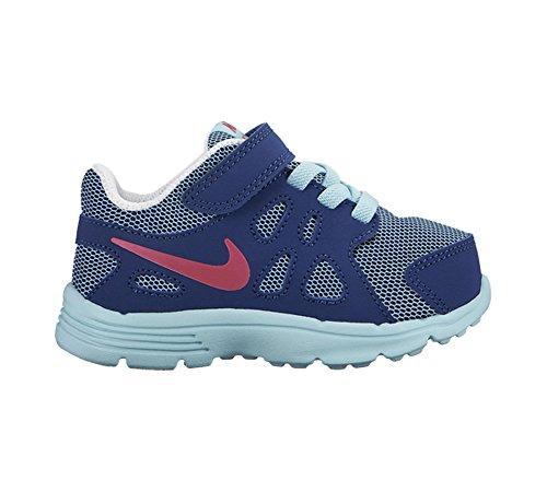 Nike Revolution 2 Tdv, Zapatos de Primeros Pasos para Bebés Azul / Rosa / Blanco (Copa / Vivid Pink-Insgn Bl-White)