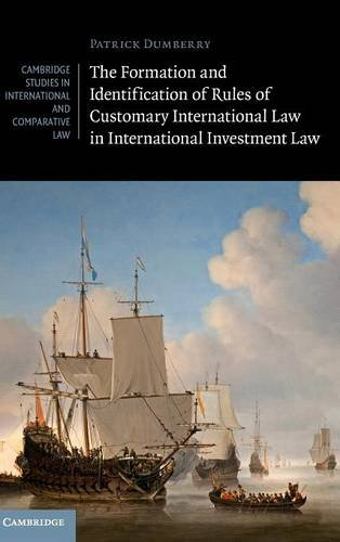 The Formation and Identification of Rules of Customary International Law in International Investment Law (Cambridge Stud