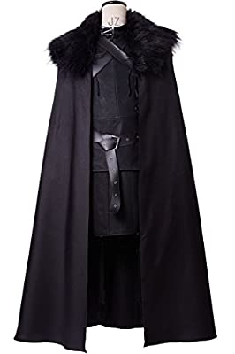 Sidnor GoT Game of Thrones Night's Watch Jon Snow Cosplay Costume Outfit Suit Dress