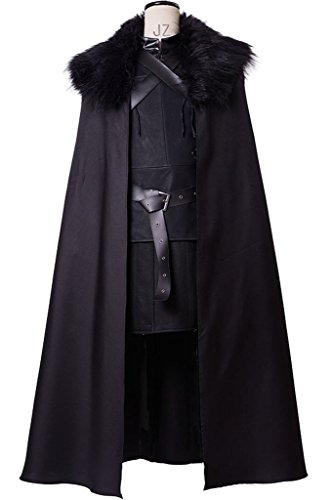Sidnor GoT Game of Thrones Night's Watch Jon Snow Cosplay Costume Outfit Suit (Jon Snow Cape Costume)