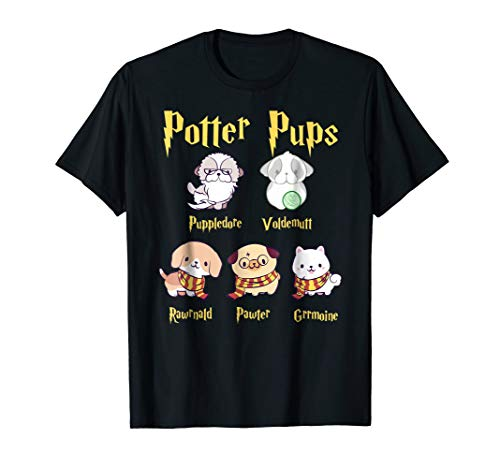 Harry Pawter Cute Puppy Dogs Potter Pups T -