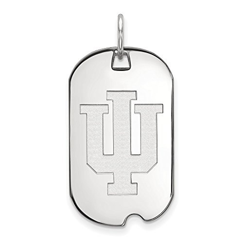 Sterling Silver LogoArt Official Licensed Collegiate Indiana University (IU) Small Dog Tag by LogoArt