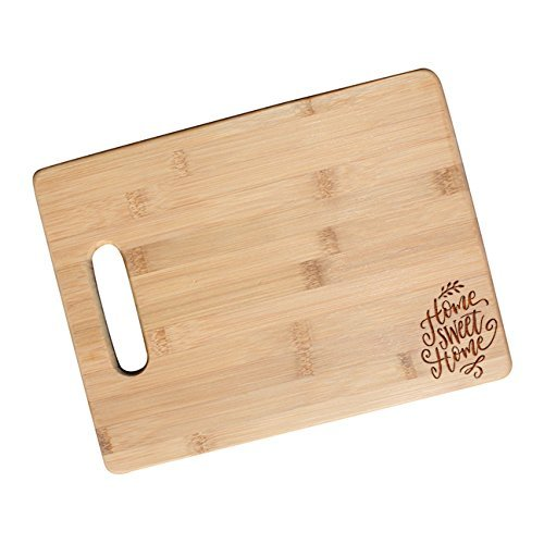 Home Sweet Home Engraved Cutting Board, Housewarming Gifts, Friendship Gifts, Gift for Co-worker - JS46.NC