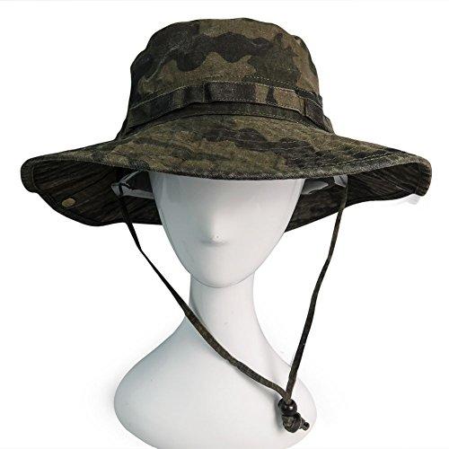 Phaiy 100% Cotton Booney Fishing Bucket Men Safari Summer String Hat Cap by Phaiy