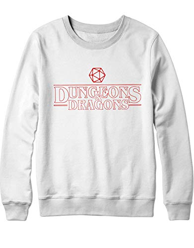 And Hypshrt Dungeons Uomo Sweatshirt C001093 Dragons Bianco wqPvTq