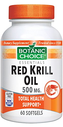 Botanic Choice Red Krill Oil 500 mg, 60 Soft gels