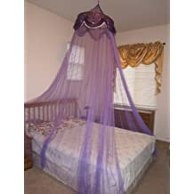 Sequins Bed Canopy Mosquito Net for All Size Bed, Dressing Room, Out Door Events (Purple)