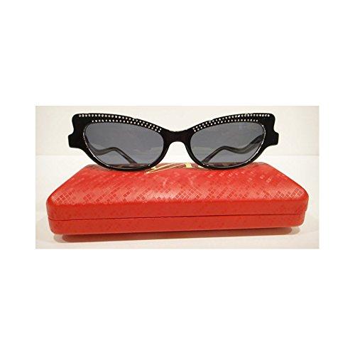 Caviar 3002 Sunglasses CatEye Black (C24) Crystal Stones Authentic - Caviar Sunglasses