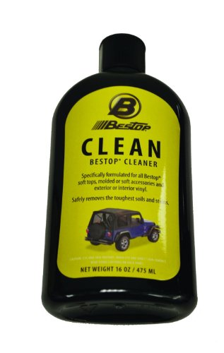 Bestop 11211-01 Jeep Soft Top Cleaner, 16 oz. bottle (Soft Jeep Cleaner Top)