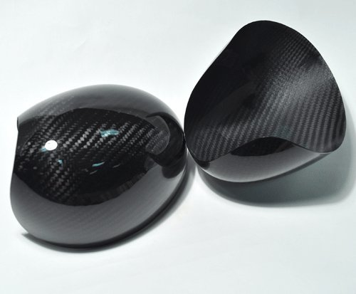MINI Cooper, Clubman, Convertible, Coupe and Roadster JCW Carbon Fiber Mirror Covers Right and Left with Powerfold 2007-2013