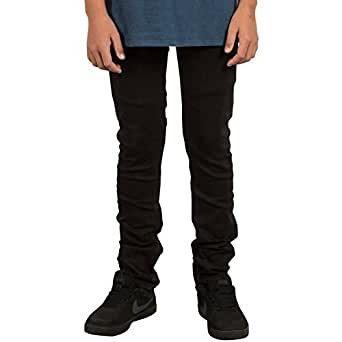Volcom Big Boys' Solver Tapered Jeans, New Black, 22