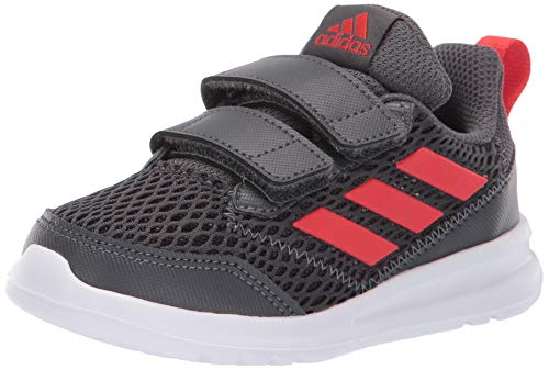 adidas Kids' Altarun, Grey/Active Red/Grey, 8K M US Toddler