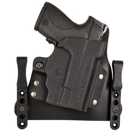 MERC - S&W (Shield 9mm/.40 + laser max ) Blk Stn - Right - add 1.25