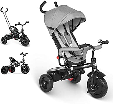 besrey Triciclo evolutivo 4 en 1 triciclos bebé Trike Bicicleta para ...
