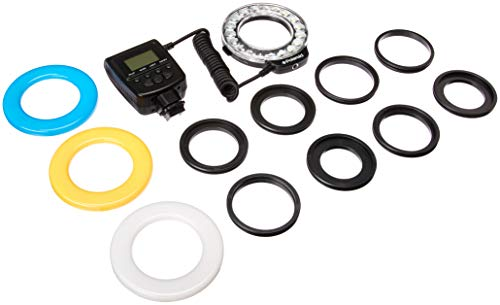Polaroid 18 Super Bright Macro SMD LED Ring Flash & Light Includes 4 Diffusers (Clear, Warming, Blue, White) For The Sony Alpha SLT-A33, SLT-A35, SLT-A37, SLT-A55, SLT-A57, SLT-A65, SLT-A77, SLT-A99, A100, A200, A230, A290, A300, A330, A350, A380, A390, A450, A500, A560, A550, A700, A850, A900, DSC-RX1 Digital SLR Cameras (Will Fit 49,52,55,58,62,67,72,77mm Lenses) (Best Ring Flash For Sony Alpha)