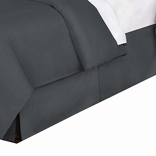 V27618CHAR05 Bed Skirt, California King, Charcoal ()