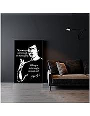 CCZWVH Bruce Lee Wetende Poster Canvas Print Home Muur Schilderij Decoratie 16x24 inch Sin Marco