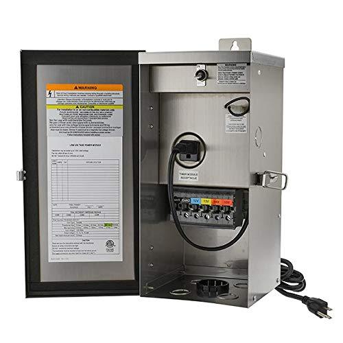 MarLG 300-Watt Low Voltage Multi-Tap (12V/13V/14V/15V) Stainless Steel Landscape Lighting Transformer, ETL-Listed, 3289-12V by MarsLG (Image #5)