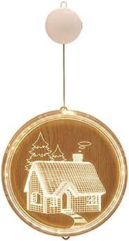 Christmas String Lights LED Decorative Novelty Hanging 3D Lights for Indoor Windows Wall Door Bedroom Outdoor