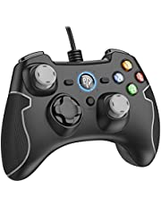 Wired Gaming Controller, EasySMX PC Game Controller Joystick Dual-Vibration Turbo Trigger Buttons Windows/Android/ PS3/ TV Box (Gray)