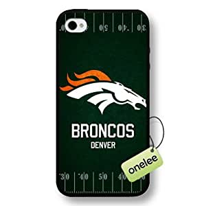 NFL Denver Broncos Team Logo Case For Samsung Galaxy S5 Cover Black Hard Plastic Case CovBlack