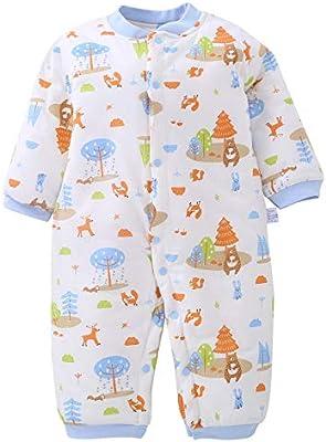 f00264a683ee5 ロンパース 新生児 カバーオール ベビー 肌着 長袖 前開き 秋冬 綿素材 赤ちゃん 服 出産祝い お出かけ 女の子 ボディスーツ 男の子