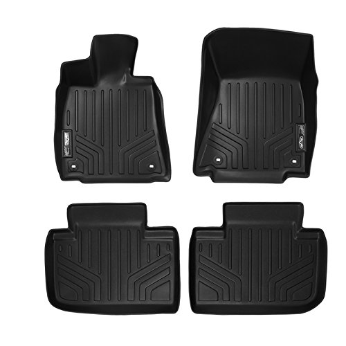 Lexus Rear Wheel Drive (MAXFLOORMAT Floor Mats 2 Row Set Black for 2014-2018 Lexus IS Sedan Rear Wheel Drive Only)