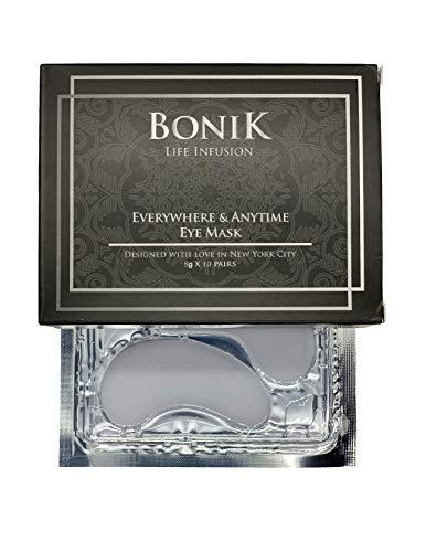 BONIK Luxury Collagen Eye Mask - 10 pairs | Under Eye Patches | Under Eye Bags Treatment | BONIK Anti Aging Products with Hyaluronic Acid