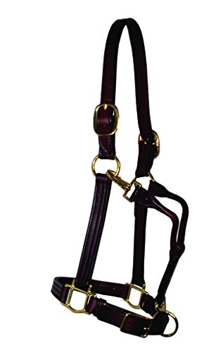 Leather Halter Triple Stitched Premium Leather, Large Horse, Brown