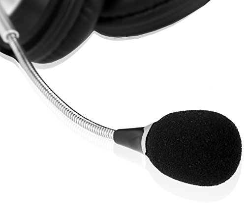 Sonitum USB Headset for Computer, Chat, Skype, Webinar, Call Center Headphone – Noise-Cancelling Flexible Microphone – Super Comfortable Ear Pads – USB 6ft Cable – Easy Accessible Button Controls