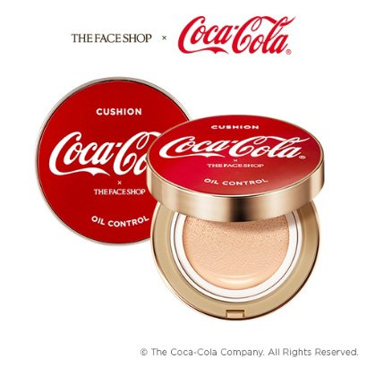 The Face Shop x Coca-Cola OIL CONTROL Water Cushion Foundation V203 NATURAL BEIGE 15g ()