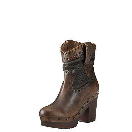 ARIAT Women's Memphis Western Boot Naturally Distressed Brown Size 7 B/Medium Us (Leather Clogs Ariat)