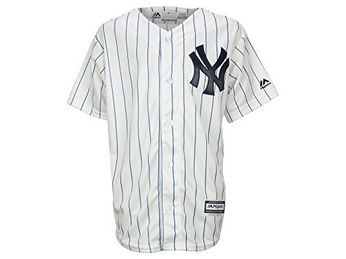 Majestic Big Kid's/Juniors New York Yankees White Major League Baseball Jersey (Large)
