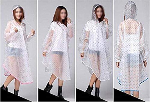 Pluie Femmes Couleurs À Beau Fille Imperméable De Vêtement Solides Classique Poncho 2 Q Portable L'eau Capuchon Transparent I7dHxnI