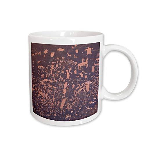 3dRose UT, Newpaper Rock SP, Petroglyphs US45 JWI0176 Jamie and Judy Wild Ceramic Mug, 11-Ounce