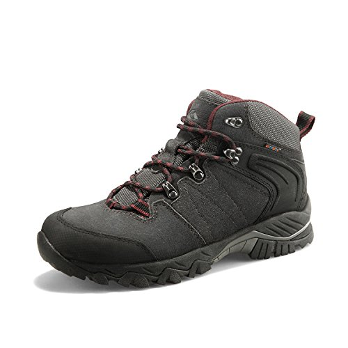 Clorts Men's Hiking Boot Waterproof Lightweight Backpacking Trekking Trail Shoes Dark Grey HKM-822A US11.5