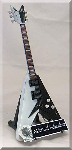 Michael Schenker - Guitarra en miniatura con púa para guitarra ...