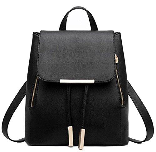 Feminina Schoolbags Leather Women Black For Shoulder Bag Motop Travel Backpacks Mochila wZC7Iwqxz