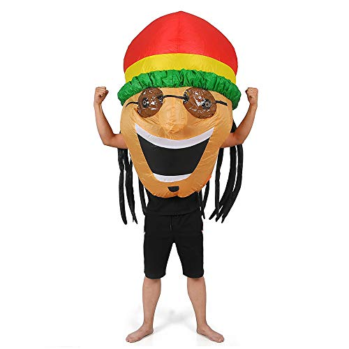 RHYTHMARTS Inflatable Jamaican Costume Adult Halloween Costume Kids Fancy Dress Cosplay