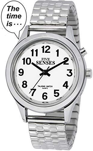 2nd Generation Talking Watch - Silver-Tone Alarm Day-Date Unisex-adult Watch - Watch Talking Tone Silver