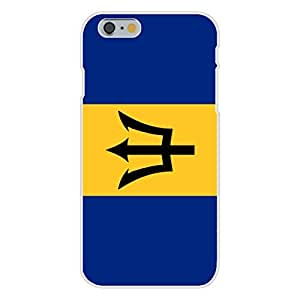 Apple iphone 4 4s Custom Case White Plastic Snap On - Barbados - World Country National Flags