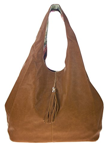 Reversible Hobo Handbag - 1