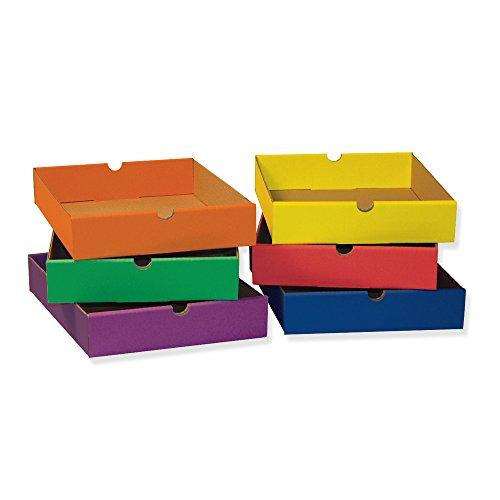 Pacon Six Shelf Organizer - Classroom Keepers 6-Drawer Set for 6-Shelf Organizer, Assorted Colors (001313)